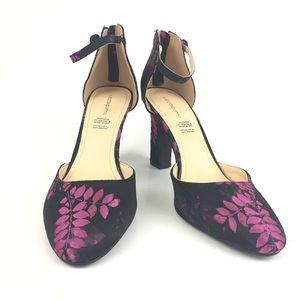 Liz Claiborne Winnie Floral Brocade Heels   Size 9